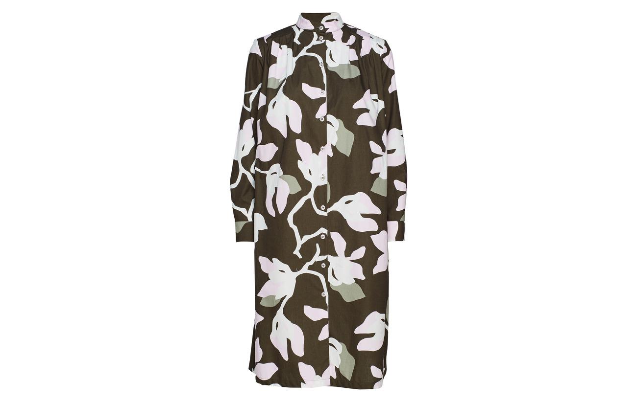White Green Katleija Coton 100 Marimekko Pink Dress Heijastus CqXxOB