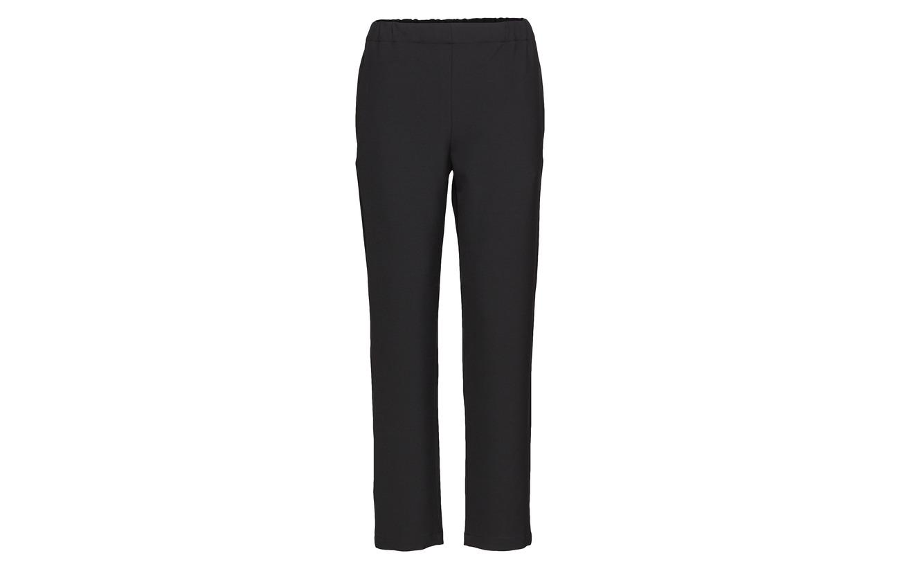 Polyester 3 Solid Elena Long 27 Elastane Marimekko Trousers Coton 7 Viscose Black 63 xOYqS6wP