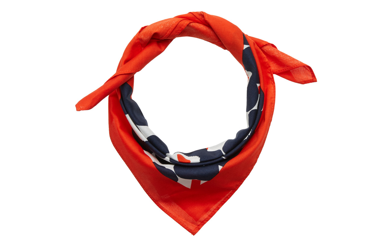Marimekko TAISA MINI UNIKKO Scarf - WHITE,NAVY,ORANGE