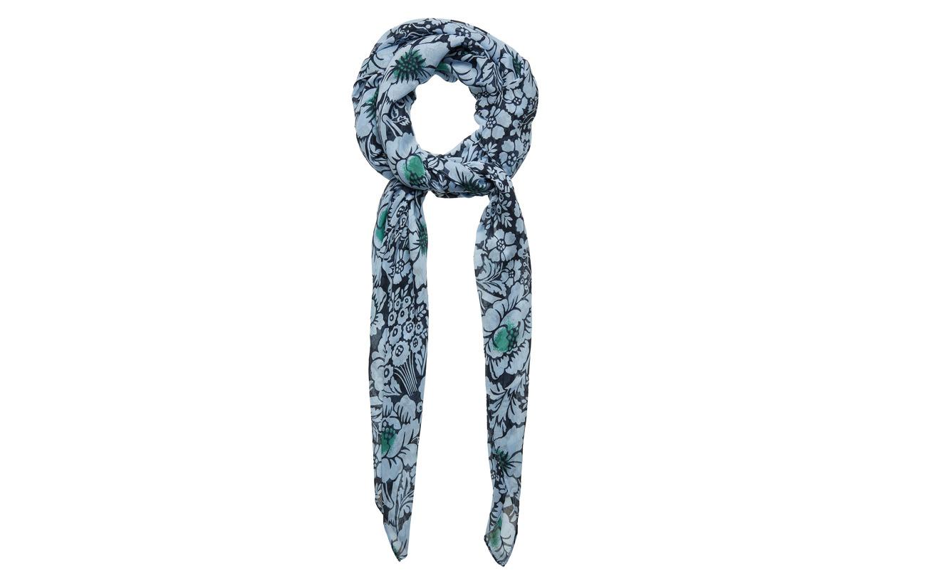Marimekko SIVULLINEN JUHANNUS Scarf, woven - NAVY,LIGHT BLUE,GREEN