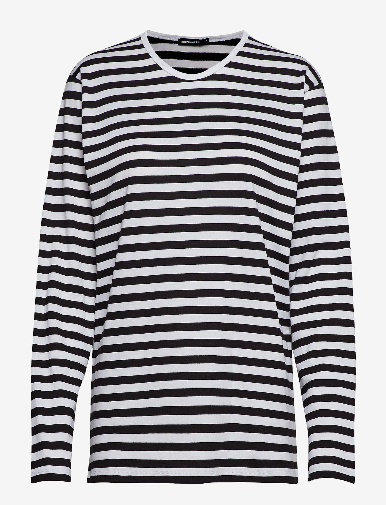 Marimekko - Pitkähiha shirt - langærmede toppe - white, black - 0