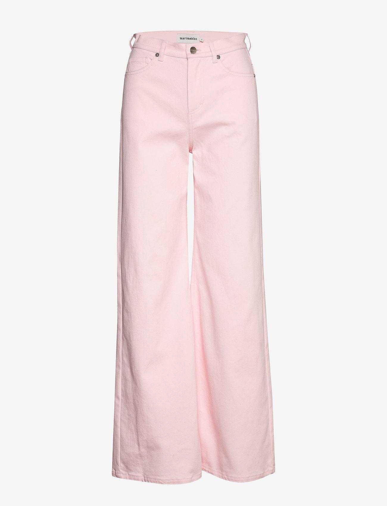 Marimekko - LUOTAUS SOLID TROUSERS - broeken met wijde pijpen - pink - 1