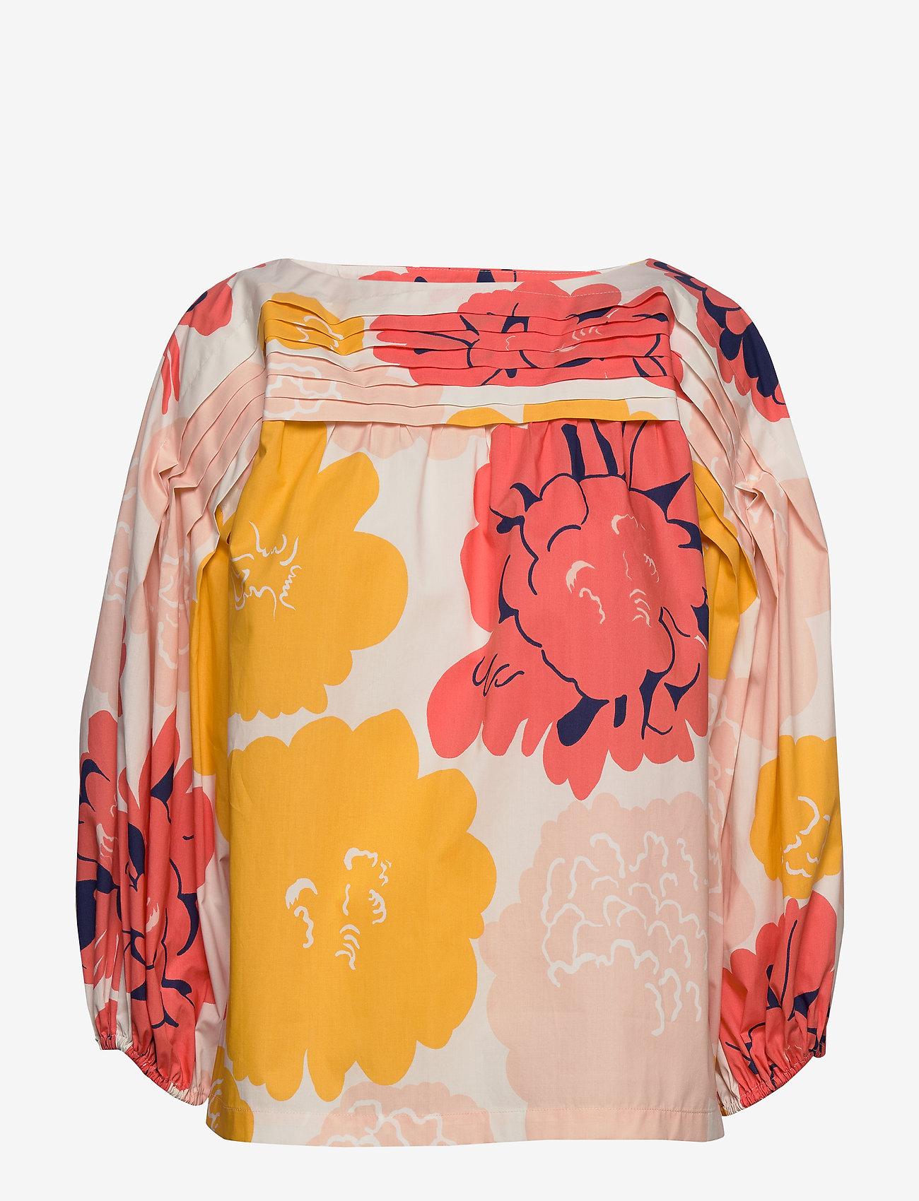 Mukura Pioni Shirt (Peach, Yellow, Coral) - Marimekko lvNLP8