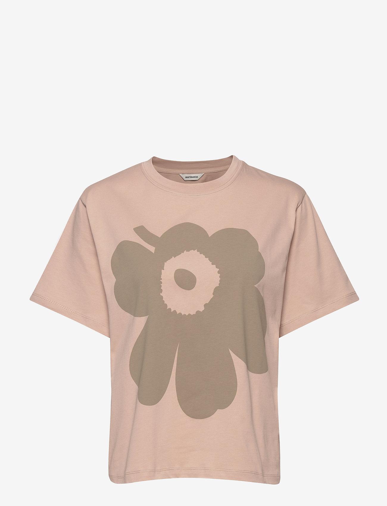 Marimekko - VAIKUTUS UNIKKO T-SHIRT - logo t-shirts - beige, green - 1