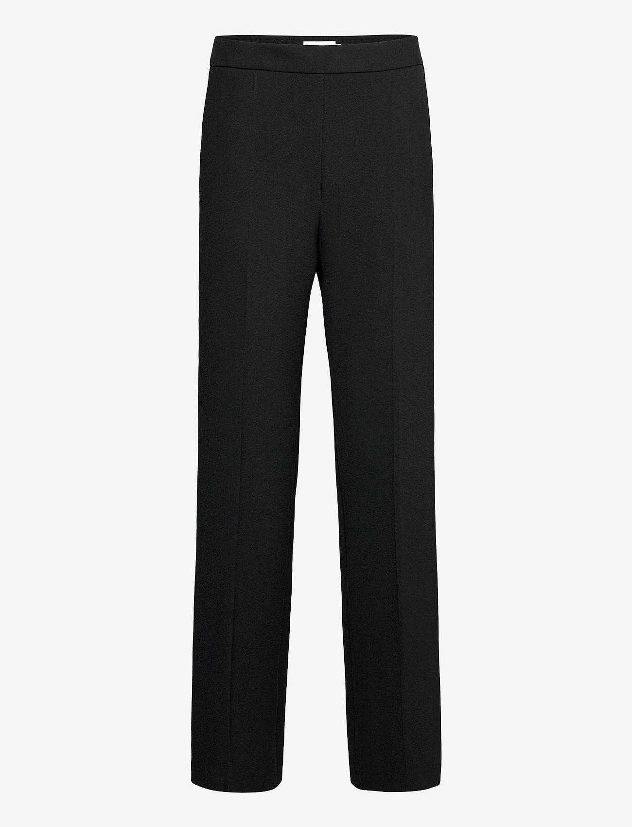Marimekko - HAKKU LONG SOLID TROUSERS - bukser med lige ben - black - 0