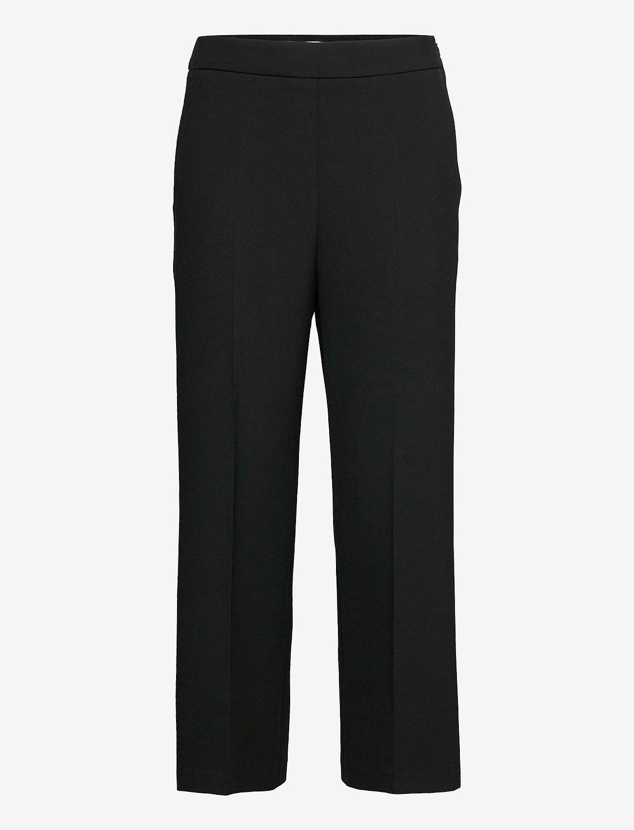 Marimekko - HAKKU SOLID TROUSERS - bukser med lige ben - black - 0
