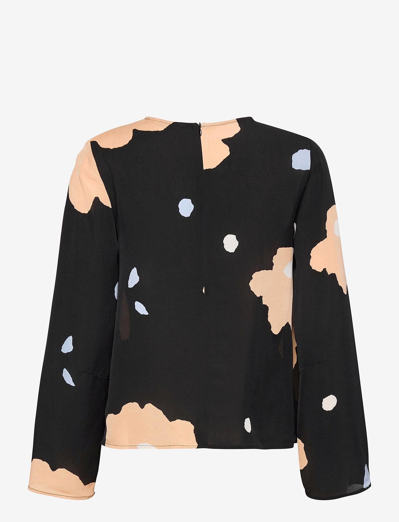 Marimekko - PISTETULO LENNOKKI SHIRT - langærmede bluser - black, beige, blue - 1