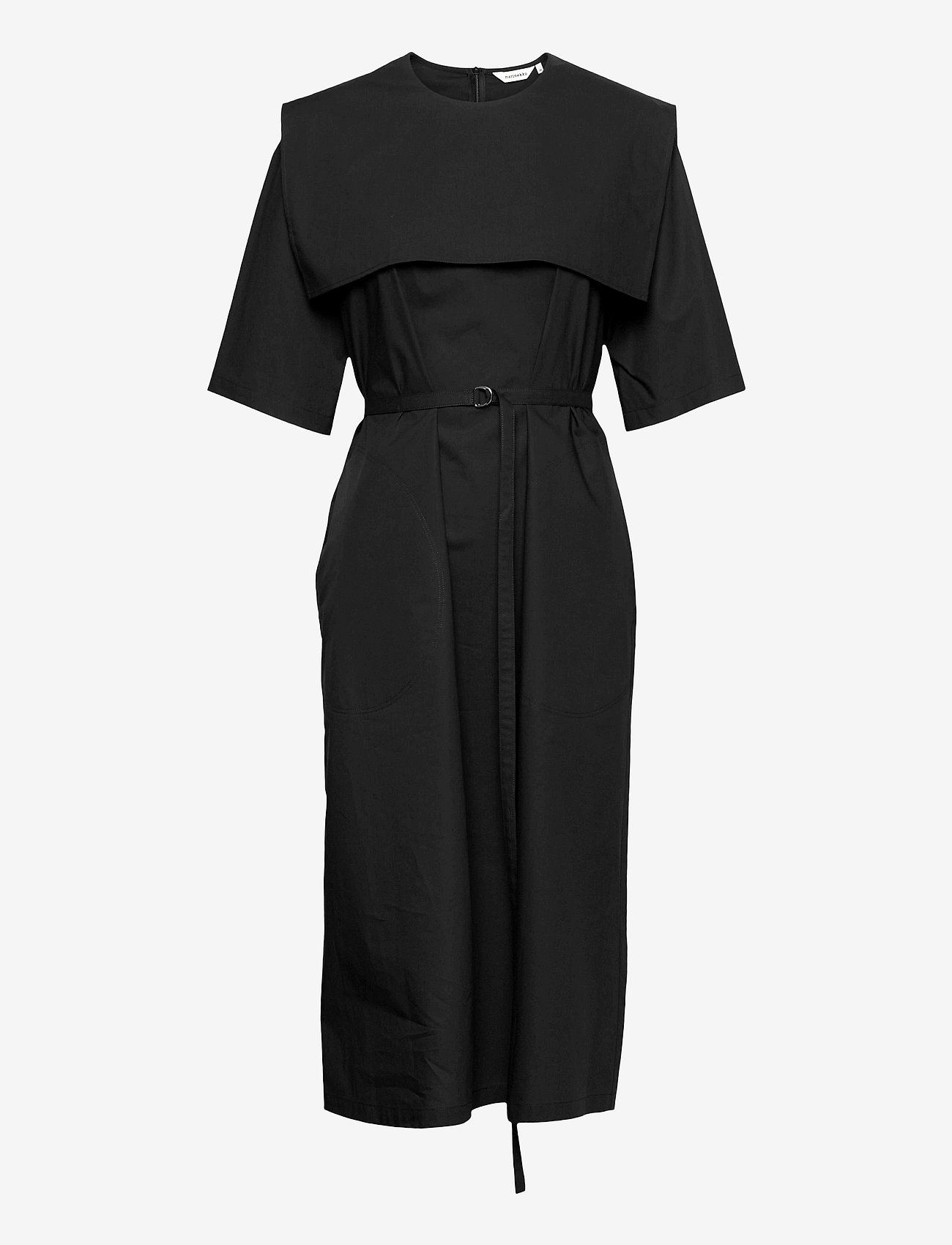 Marimekko - NELIKULMIO SOLID DRESS - hverdagskjoler - black - 0