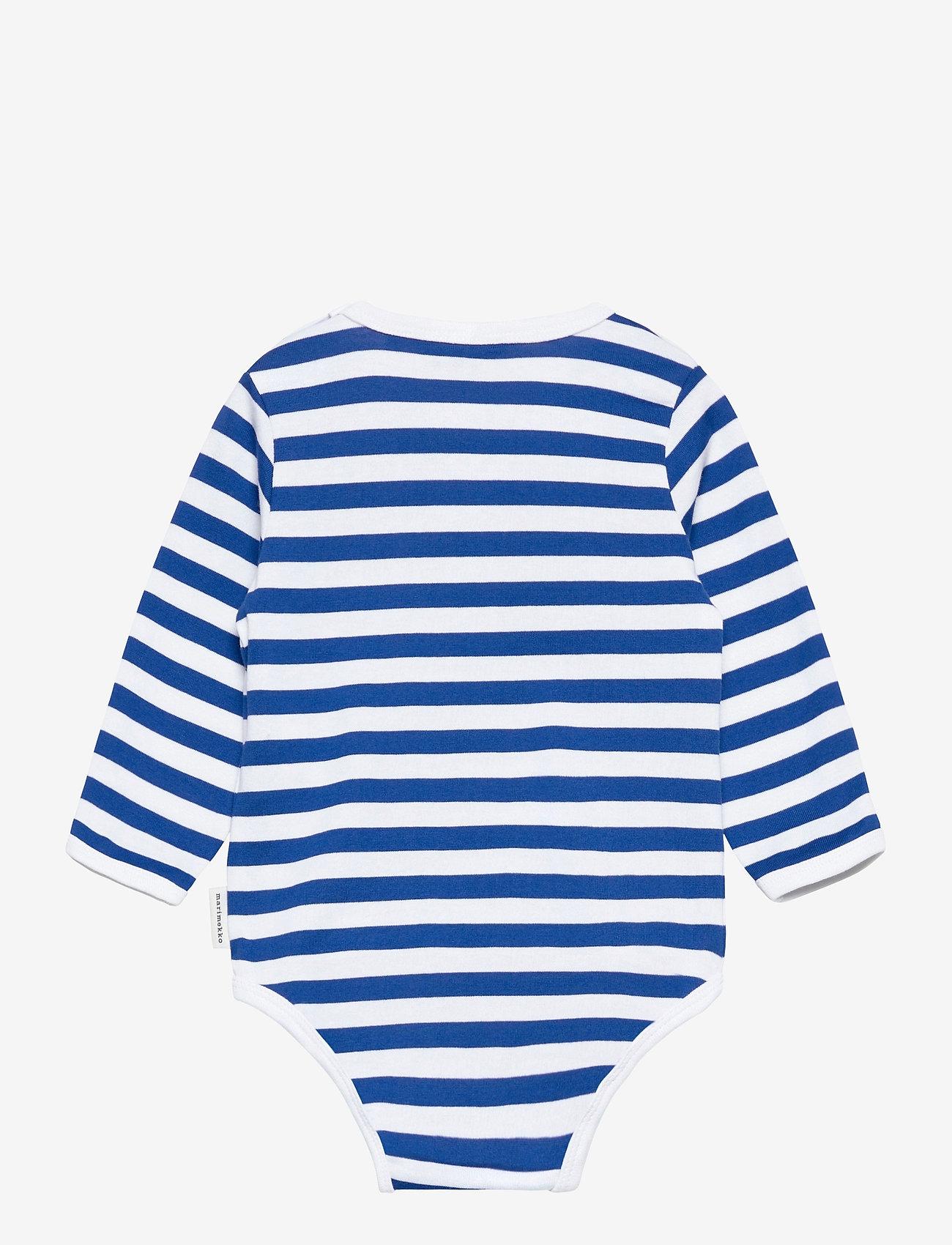 Marimekko - VINDE TASARAITA BODYSUIT - długie rękawy - white, blue - 1