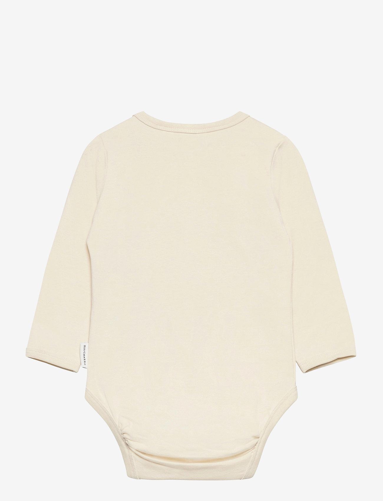 Marimekko - VINDE UNIKKO PLACEMENT BODYSUIT - długie rękawy - beige, light turquoise, black - 1