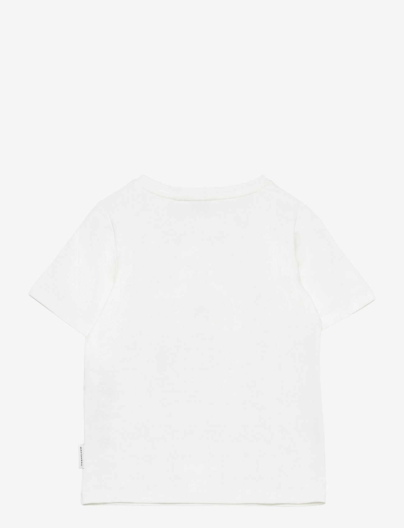 Marimekko - SOIDA UNIKKO PLACEMENT T-SHIRT - krótki rękaw - white, rose, black - 1