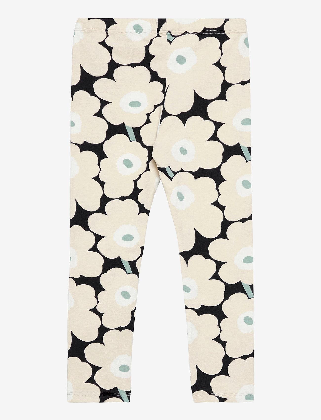 Marimekko - LAIRI MINI UNIKOT - leginsy - black, beige, light green - 1