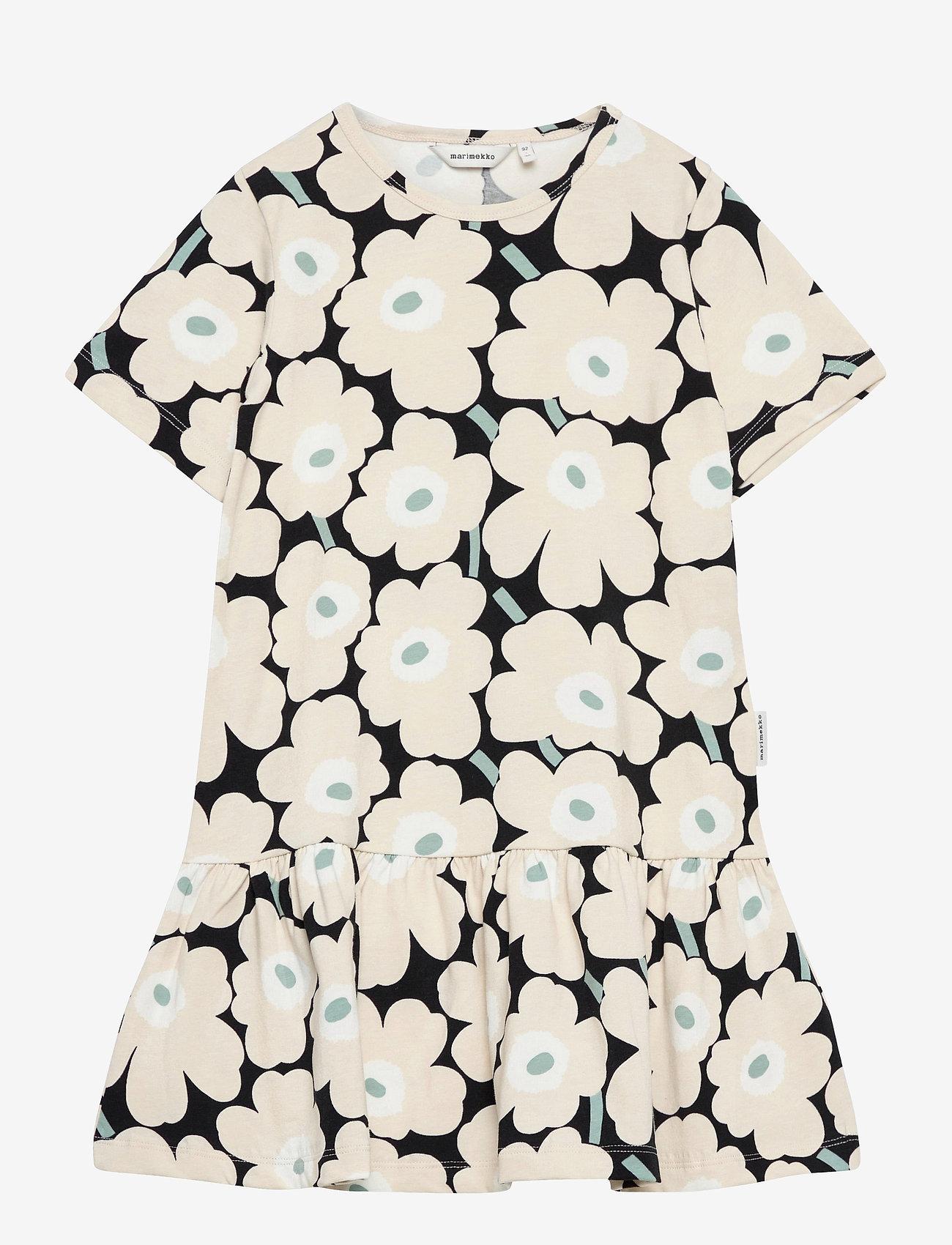 Marimekko - IHAILLA MINI UNIKOT DRESS - sukienki - black, beige, light green - 0