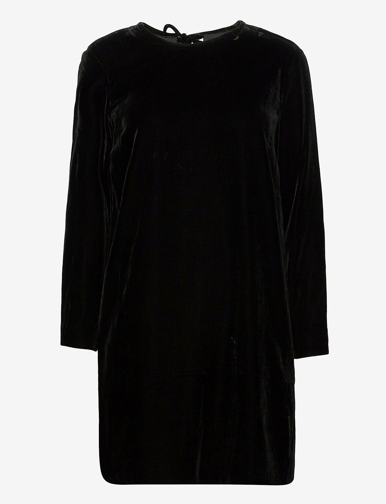 Marimekko - KUMPARE SOLID DRESS - hverdagskjoler - black - 1