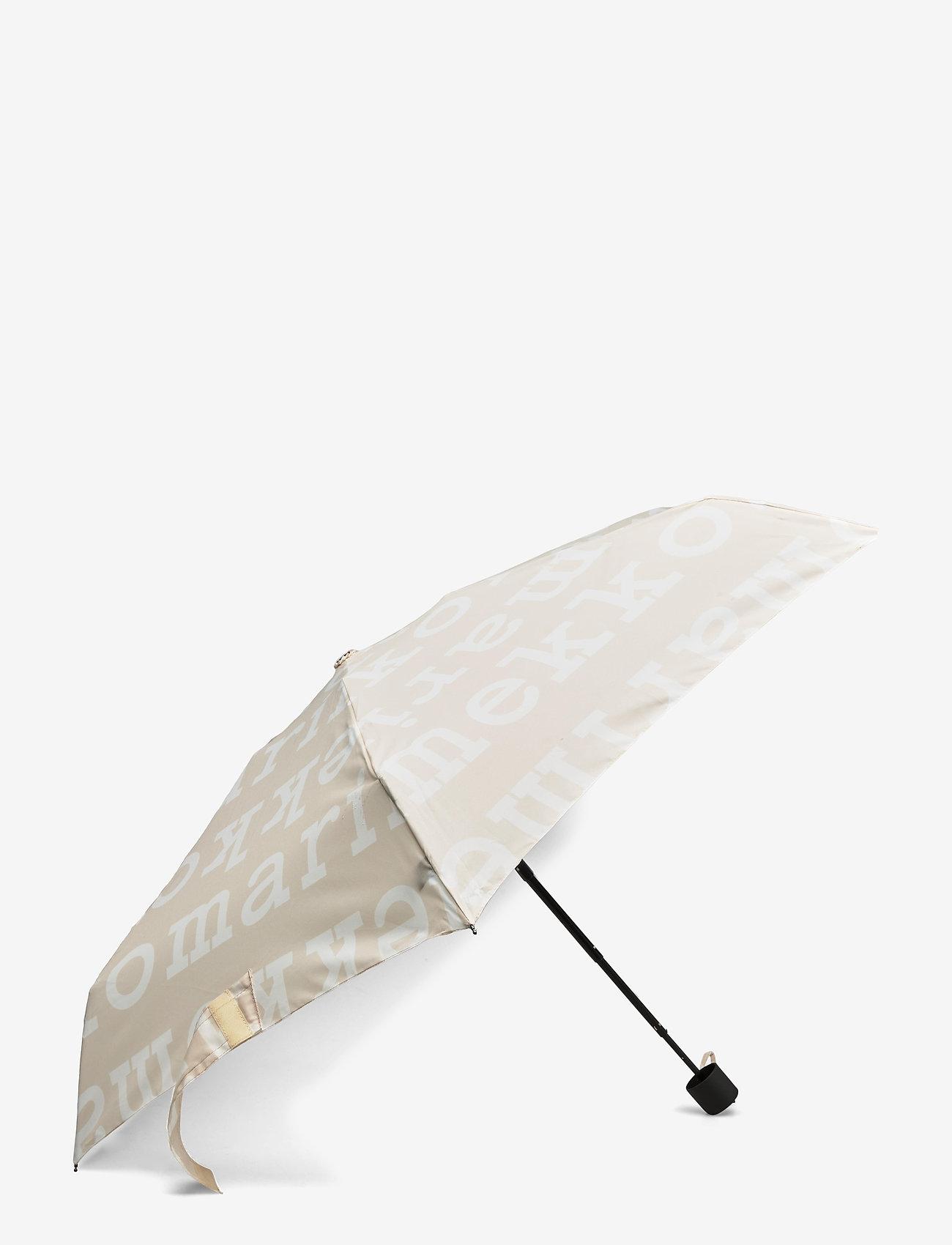 Marimekko - MINI MANUAL LOGO UMBRELLA - paraplyer - beige, off white - 0