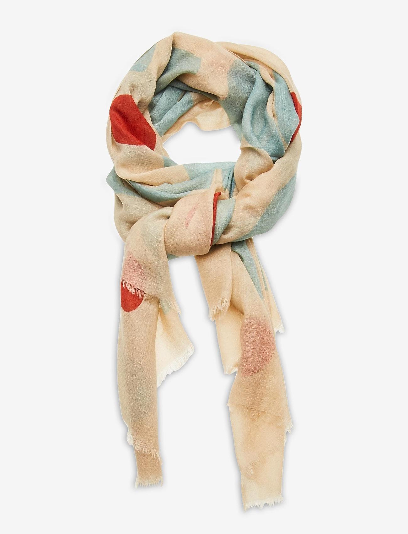 Marimekko - FIORE KEIDAS SCARF - tørklæder - beige, blue, red - 0