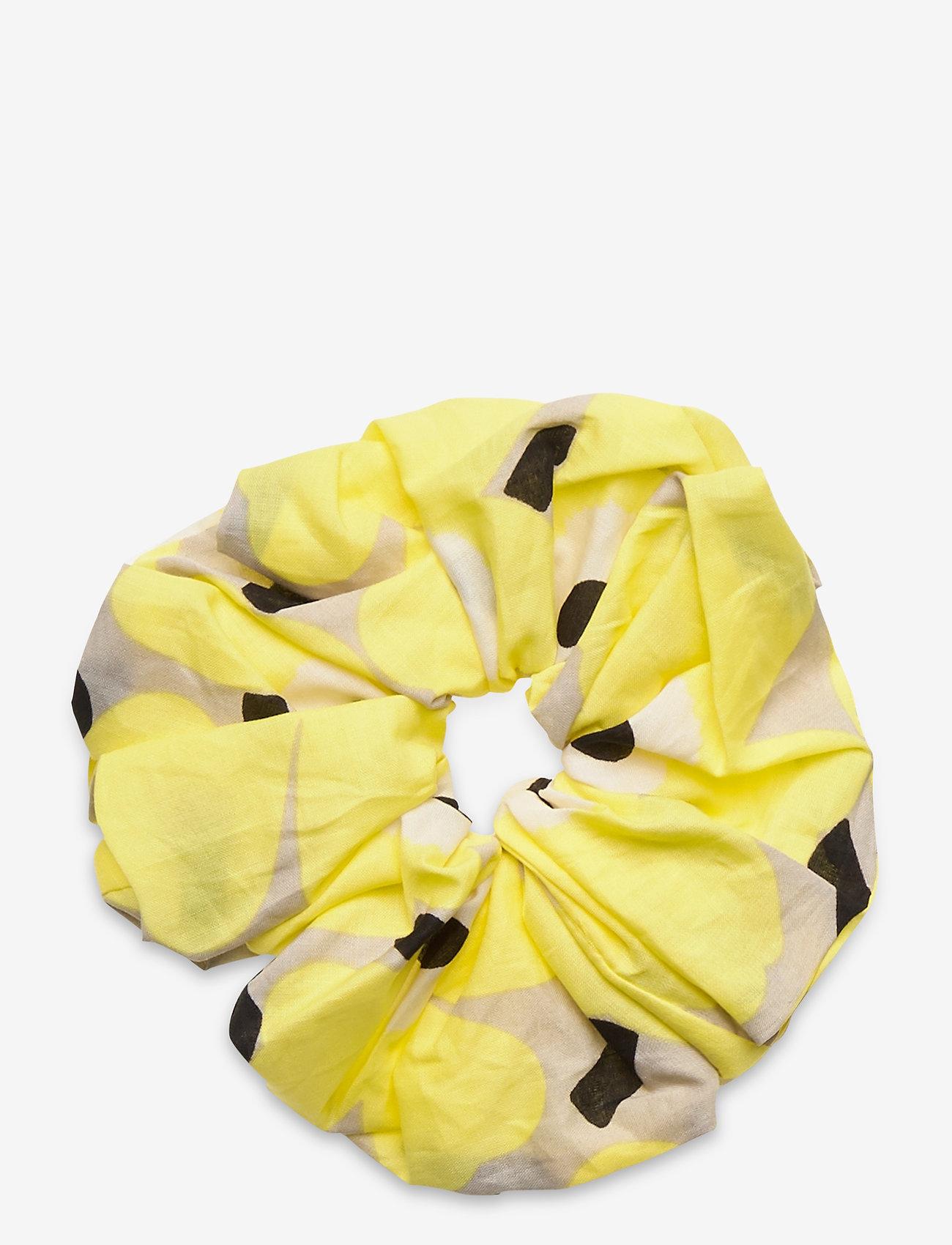 Marimekko - RUUSUNKUKKA UNIKKO HAIR SCRUNCHIE - haar accessoires - beige, yellow, black - 0