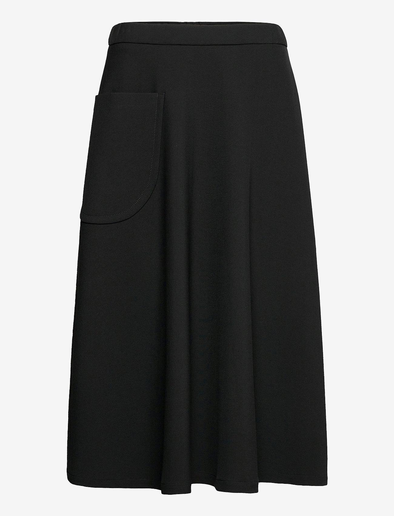 Marimekko - LOUHI SOLID SKIRT - midinederdele - black - 0