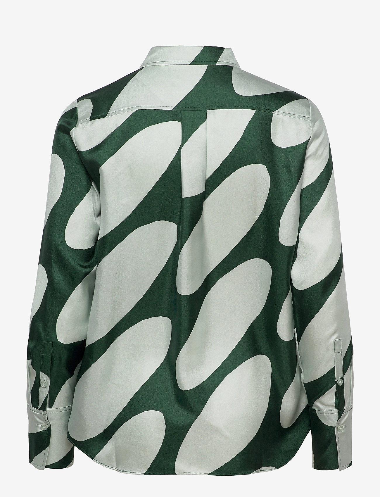 Marimekko - TOIVEIKAS LINSSI SHIRT - langærmede skjorter - light green, dark green - 1