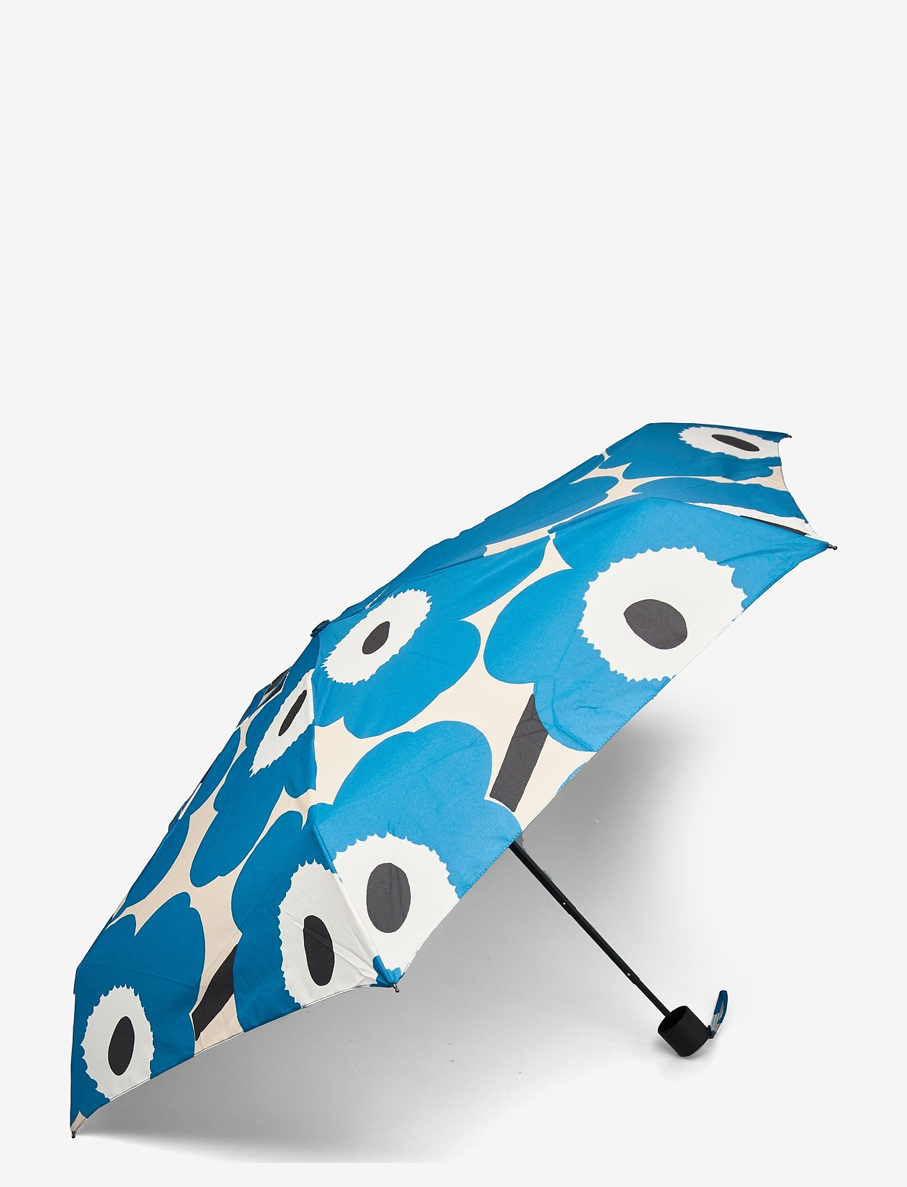 Marimekko - MINI MANUAL UNIKKO UMBRELLA - paraplyer - off white, blue, black - 0