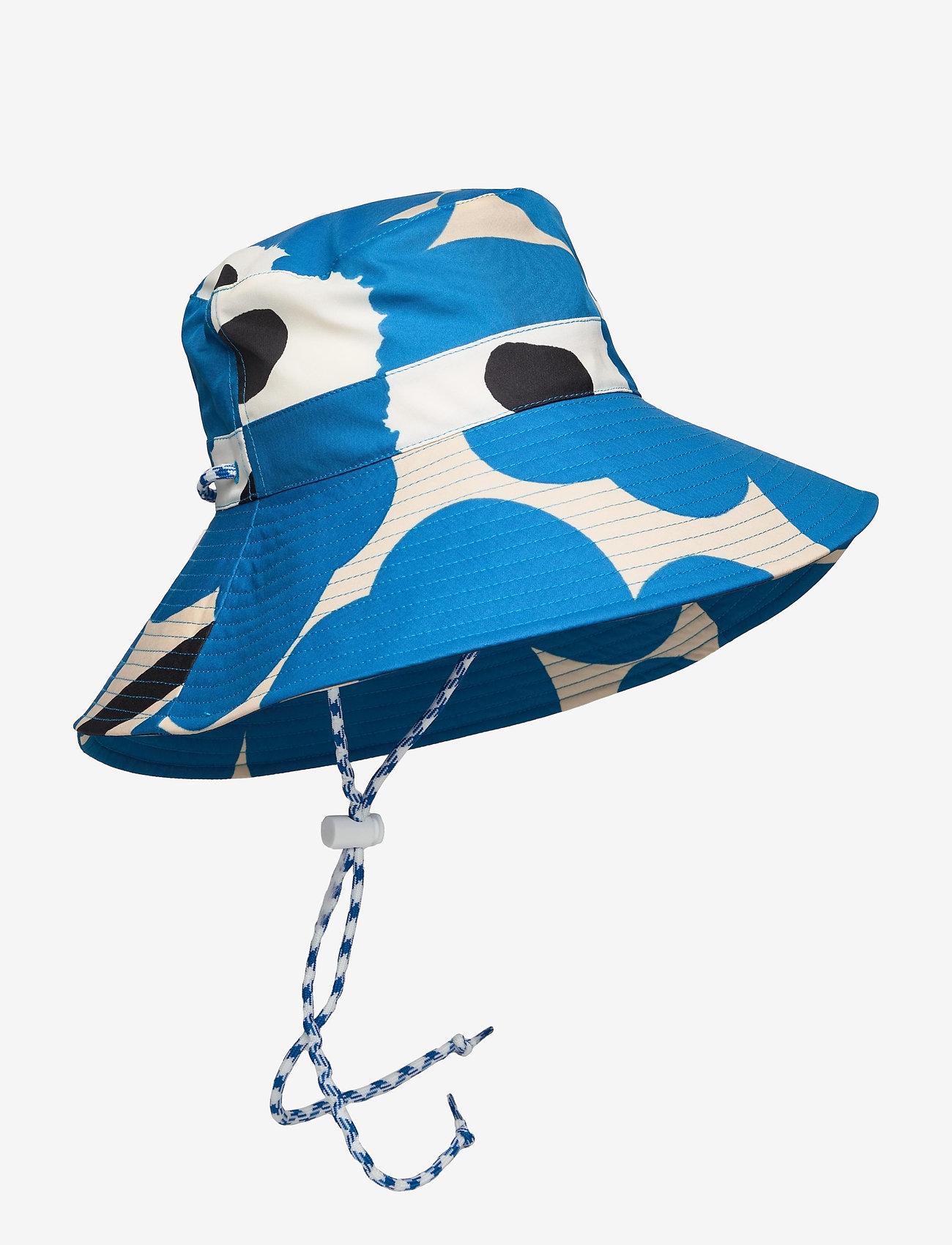 Marimekko - SIIMEKSESSÄ UNIKKO RAIN HAT - bøllehatte - beige, blue, black - 0