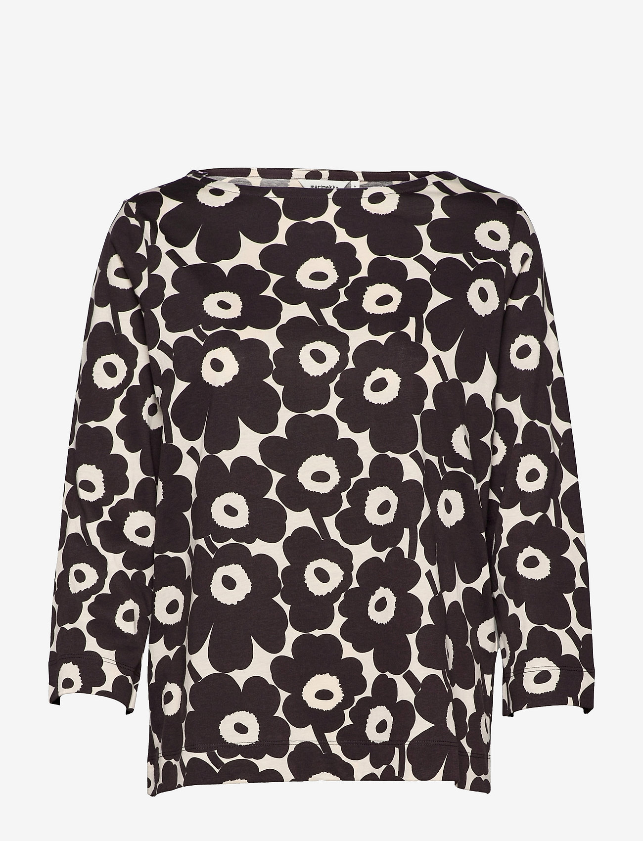 Marimekko - KUVANSA MINI UNIKKO SHIRT - langærmede bluser - light beige, dark brown - 0