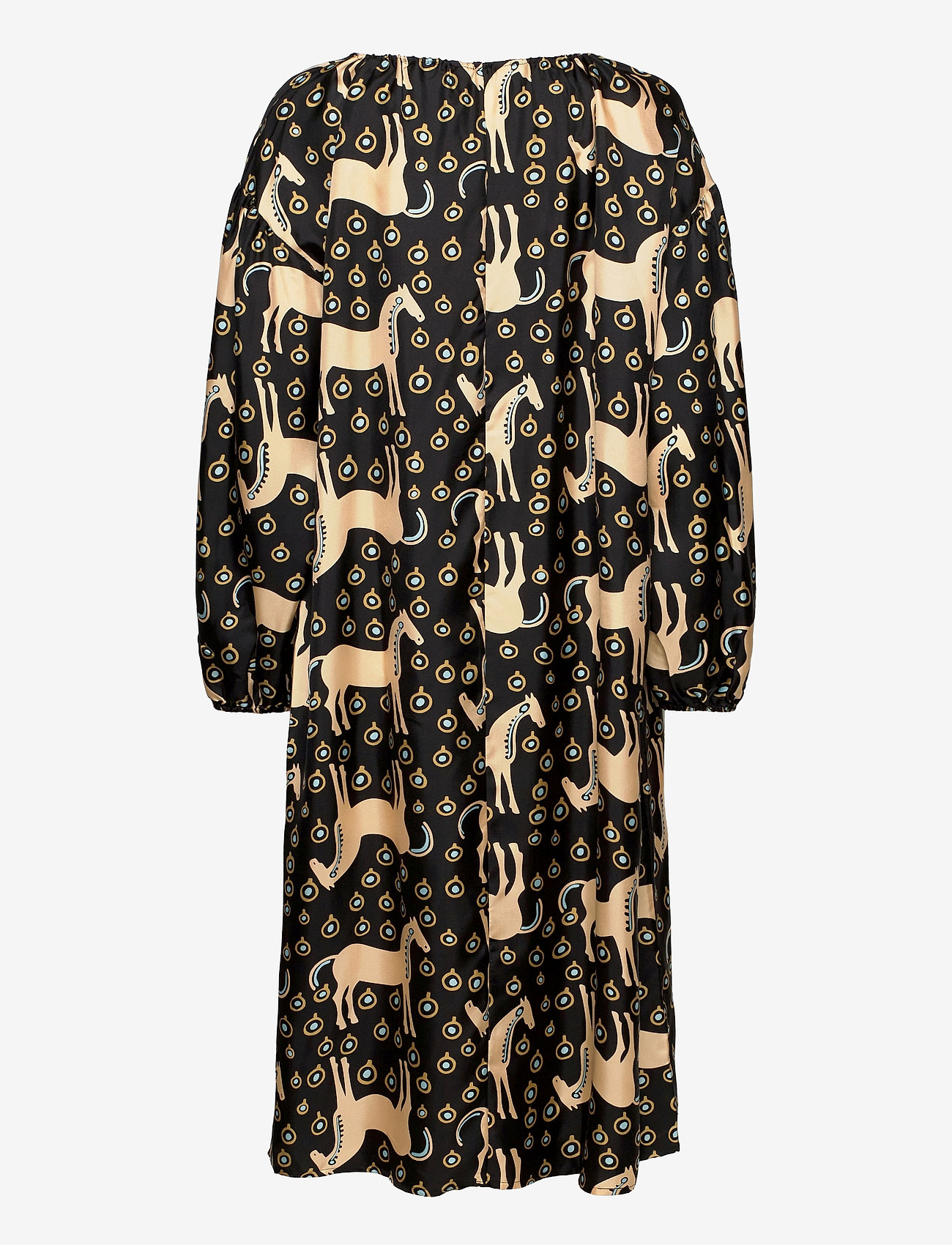 Marimekko - YHDESSÄ MUSTA TAMMA DRESS - hverdagskjoler - black, beige, blue - 1