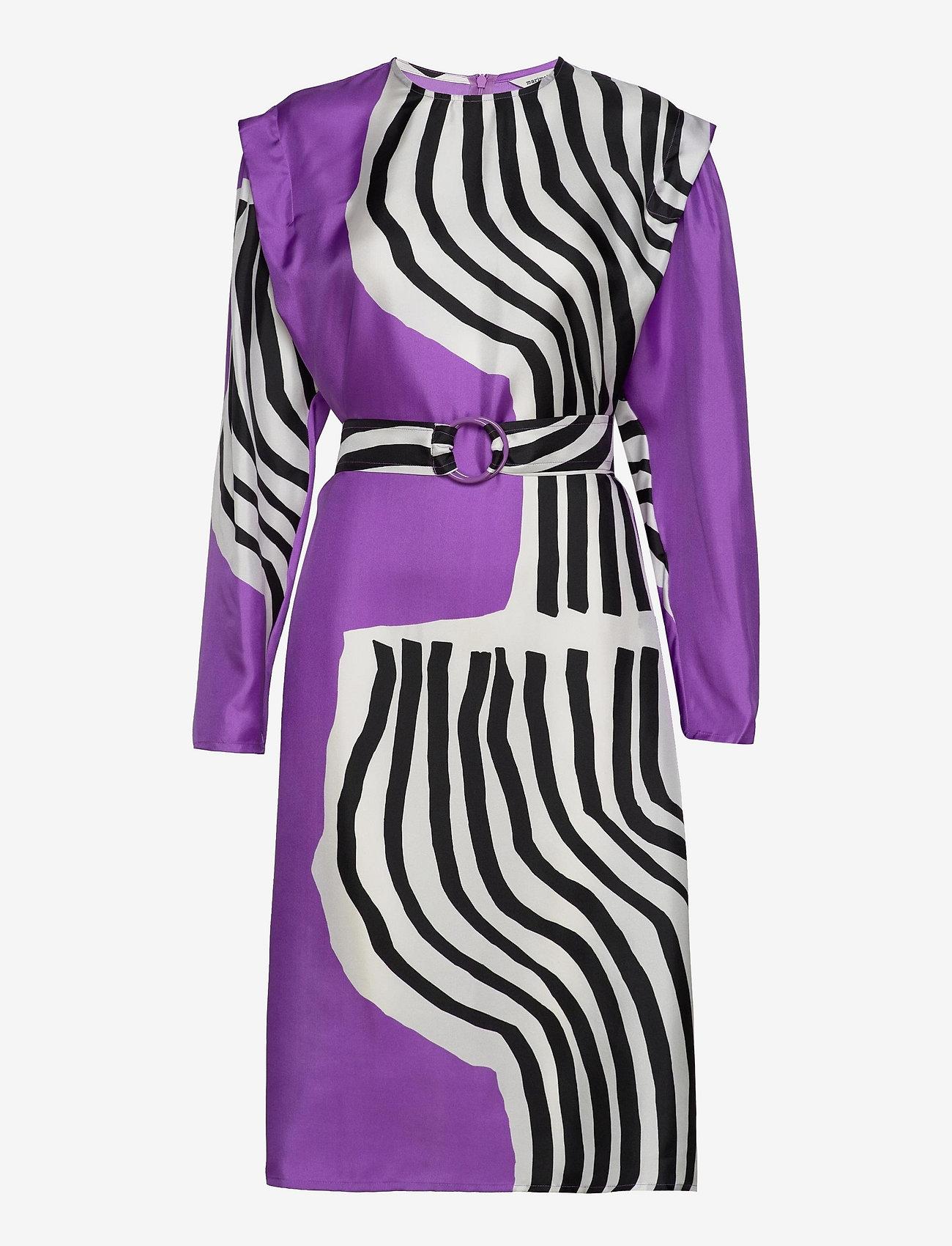 Marimekko - RAUTIAS VUOLU DRESS - cocktailkjoler - violet, off-white, black - 0