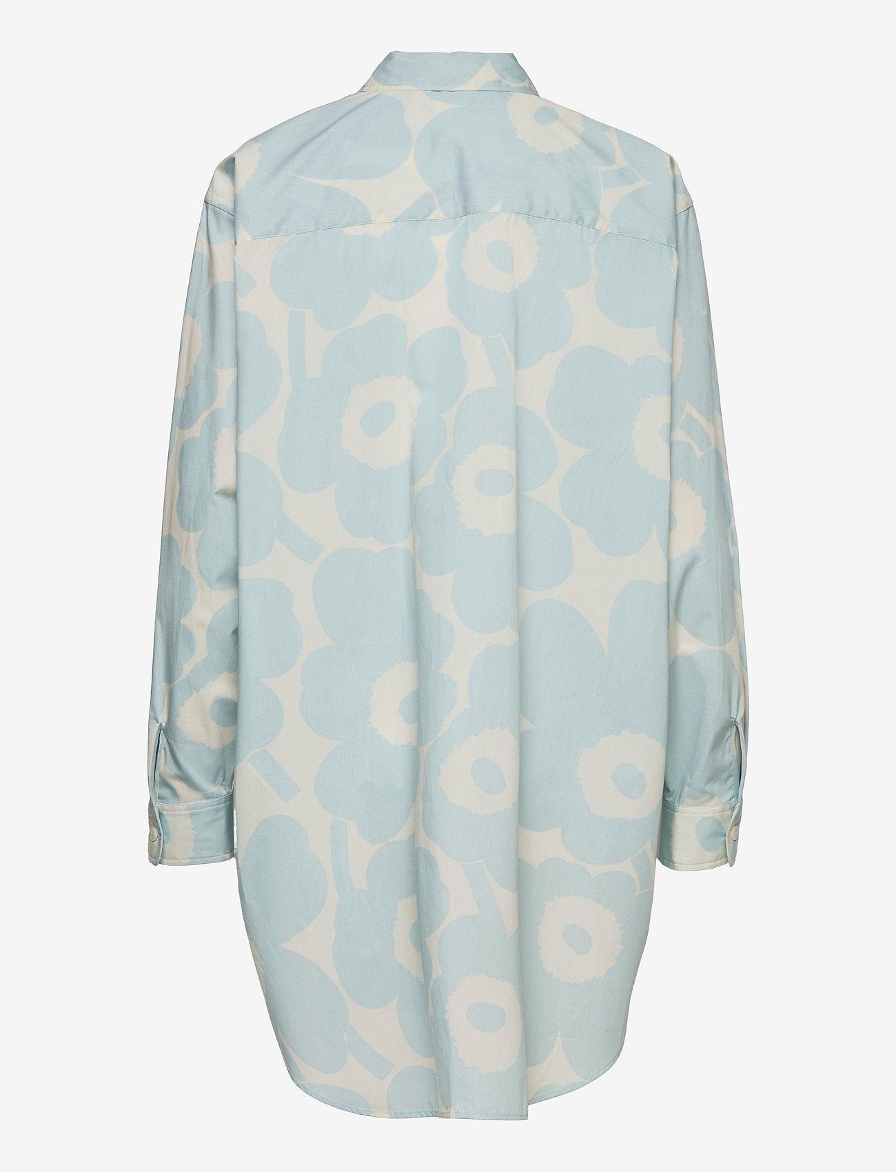 Marimekko - NORKKO PIENI UNIKKO 2 SHIRT - langærmede skjorter - off-white, light blue - 1