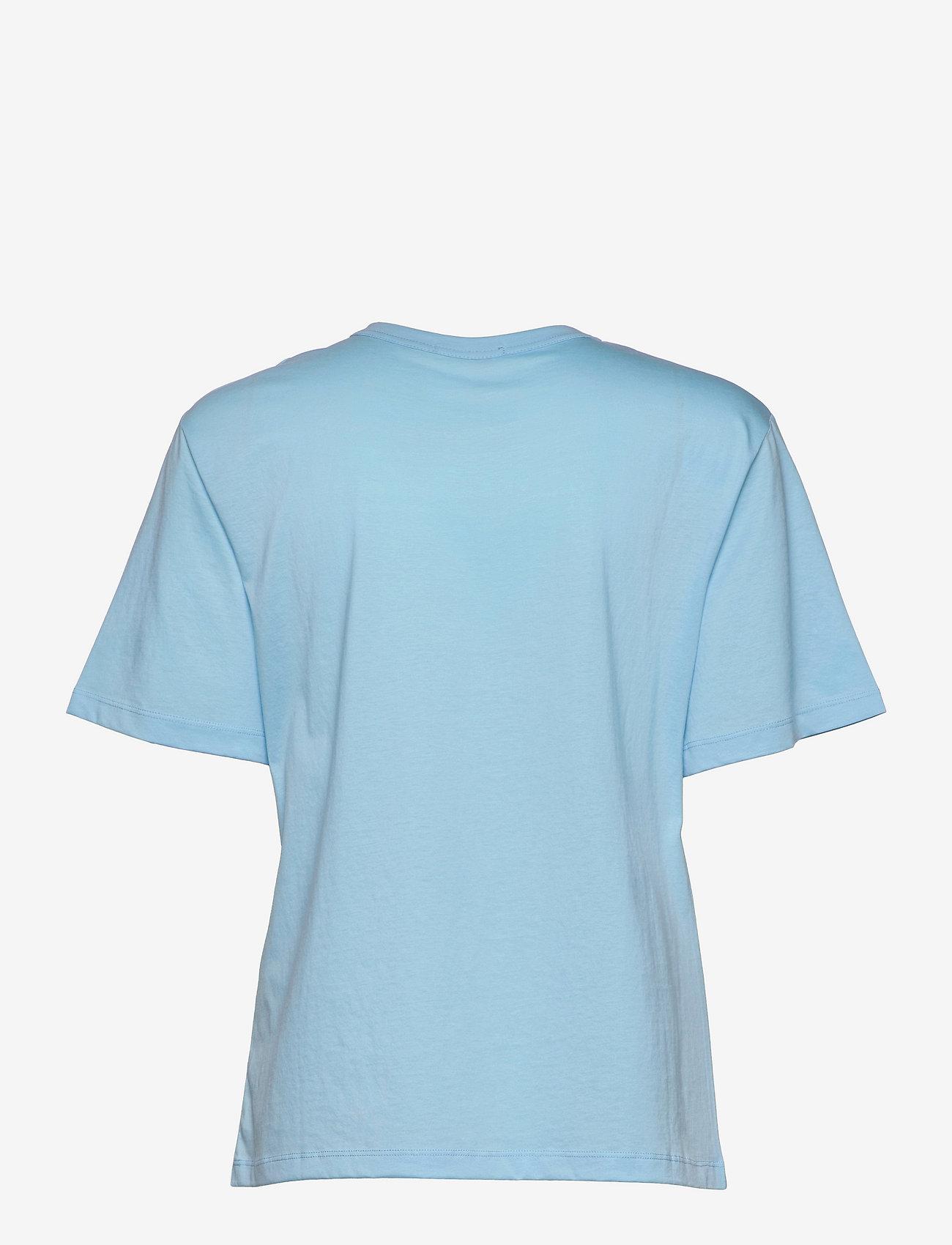 Marimekko - KAPINA LOGO T-SHIRT - t-shirts - light blue, light peach - 1