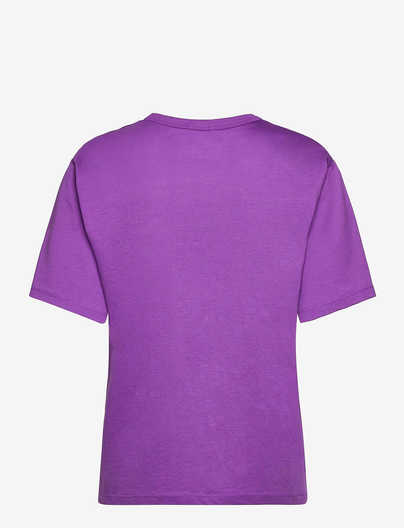 Marimekko - KAPINA LOGO T-SHIRT - t-shirts - purple, light peach - 1