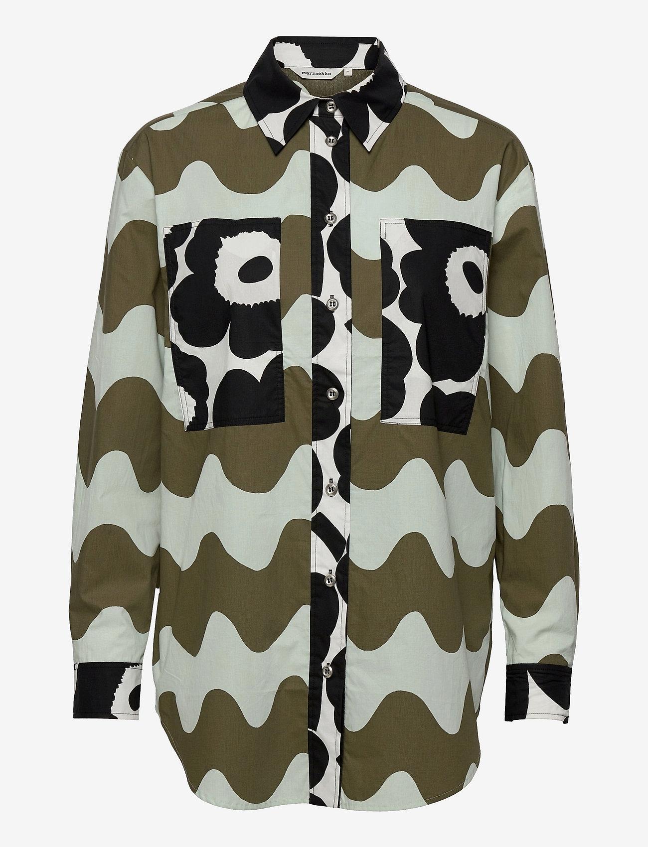 Marimekko - HOPEASINI SHIRT - langærmede skjorter - dark green, off-white, black - 0
