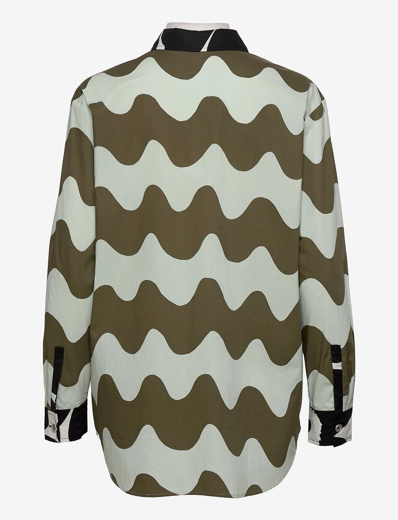 Marimekko - HOPEASINI SHIRT - langærmede skjorter - dark green, off-white, black - 1