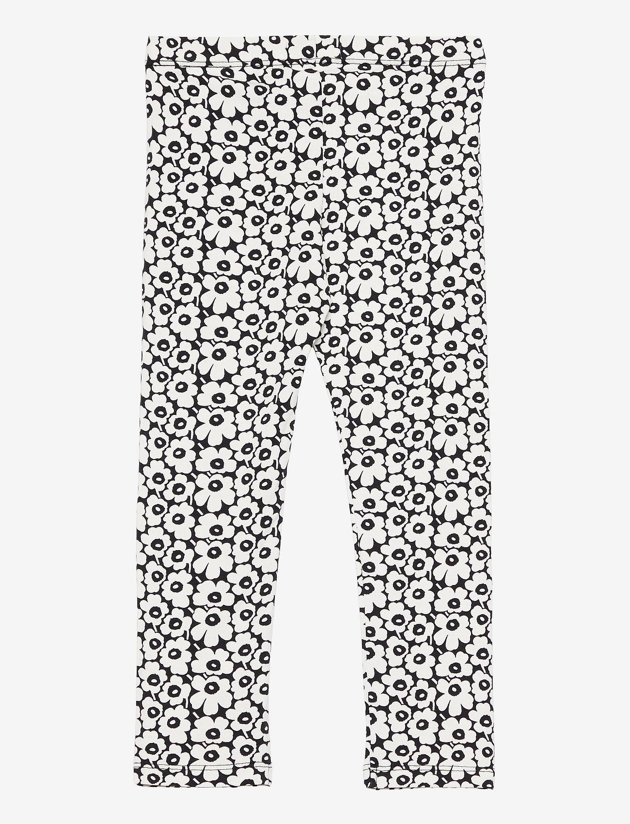 Marimekko - LAIRI PIKKUINEN UNIKKO - bukser - black, off white - 1