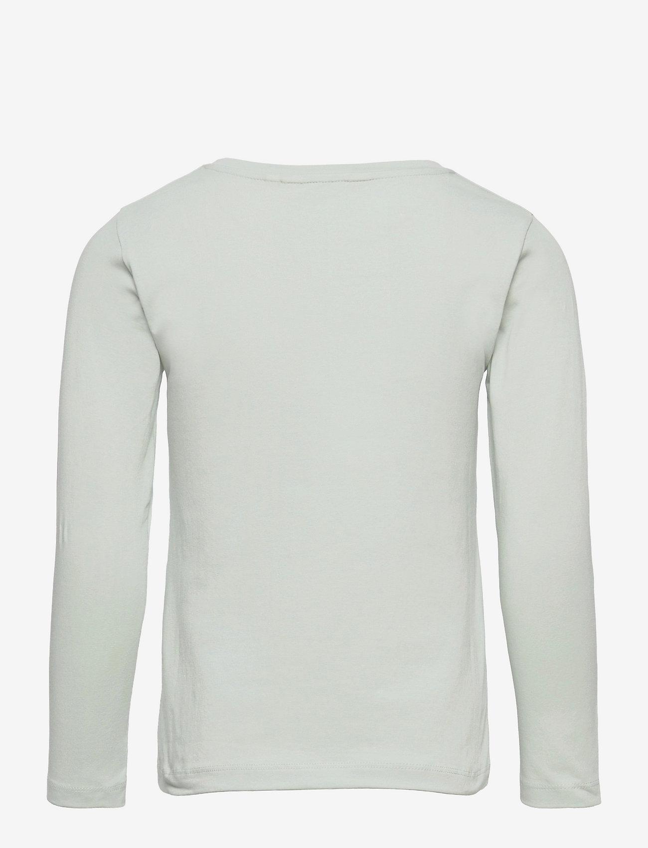 Marimekko - OULI UNIKKO PLACEMENT - langærmede t-shirts - light blue, off white, light green - 1