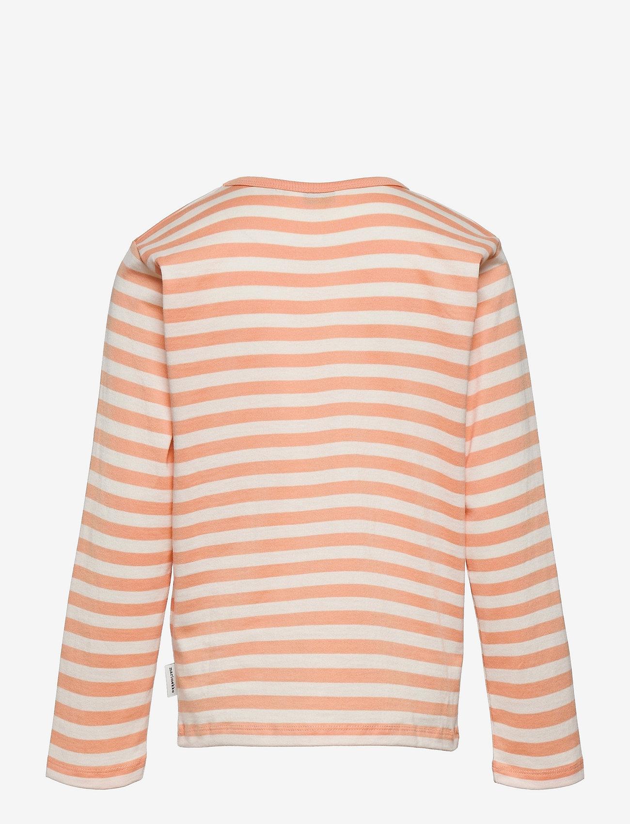 Marimekko - VEDE TASARAITA 2 - langærmede t-shirts - off white, light apricot, gold - 1