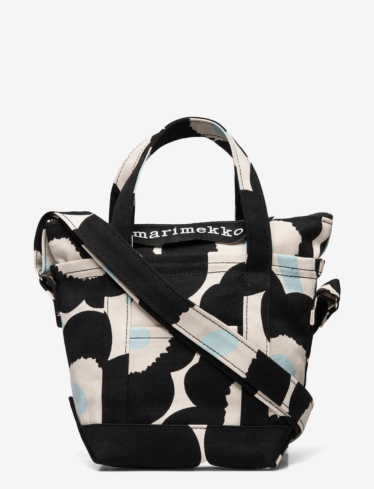 Marimekko - MILLI MATKURI PIENI UNIKKO 2 BAG - skuldertasker - off white,black,light blue - 0