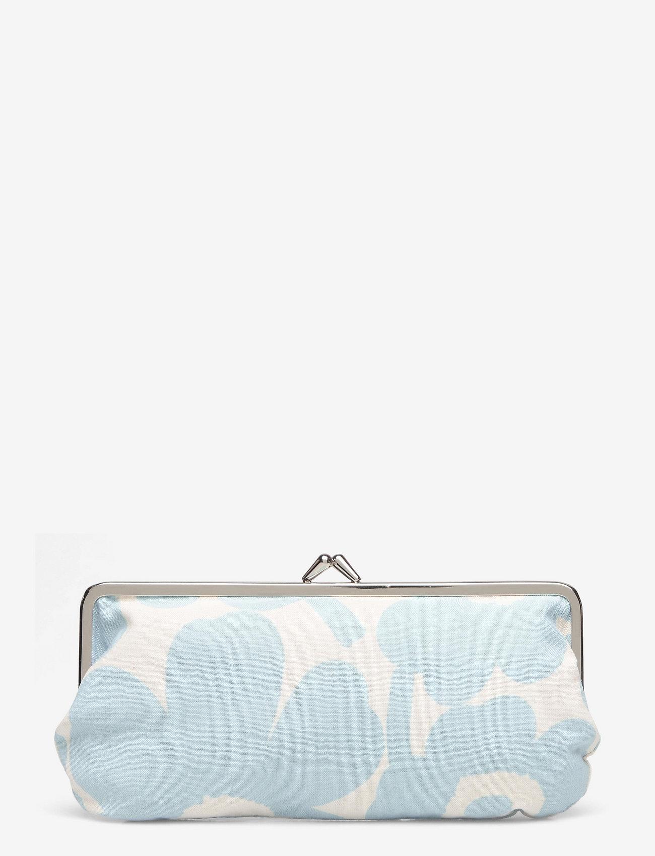Marimekko - SILMÄLASI KUKKARO MINI UNIKKO PURSE - clutches - off white,light blue - 1