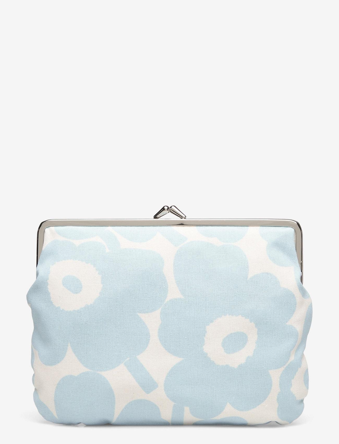 Marimekko - PUOLIKAS KUKKARO MINI UNIKKO PURSE - clutches - off white,light blue - 0