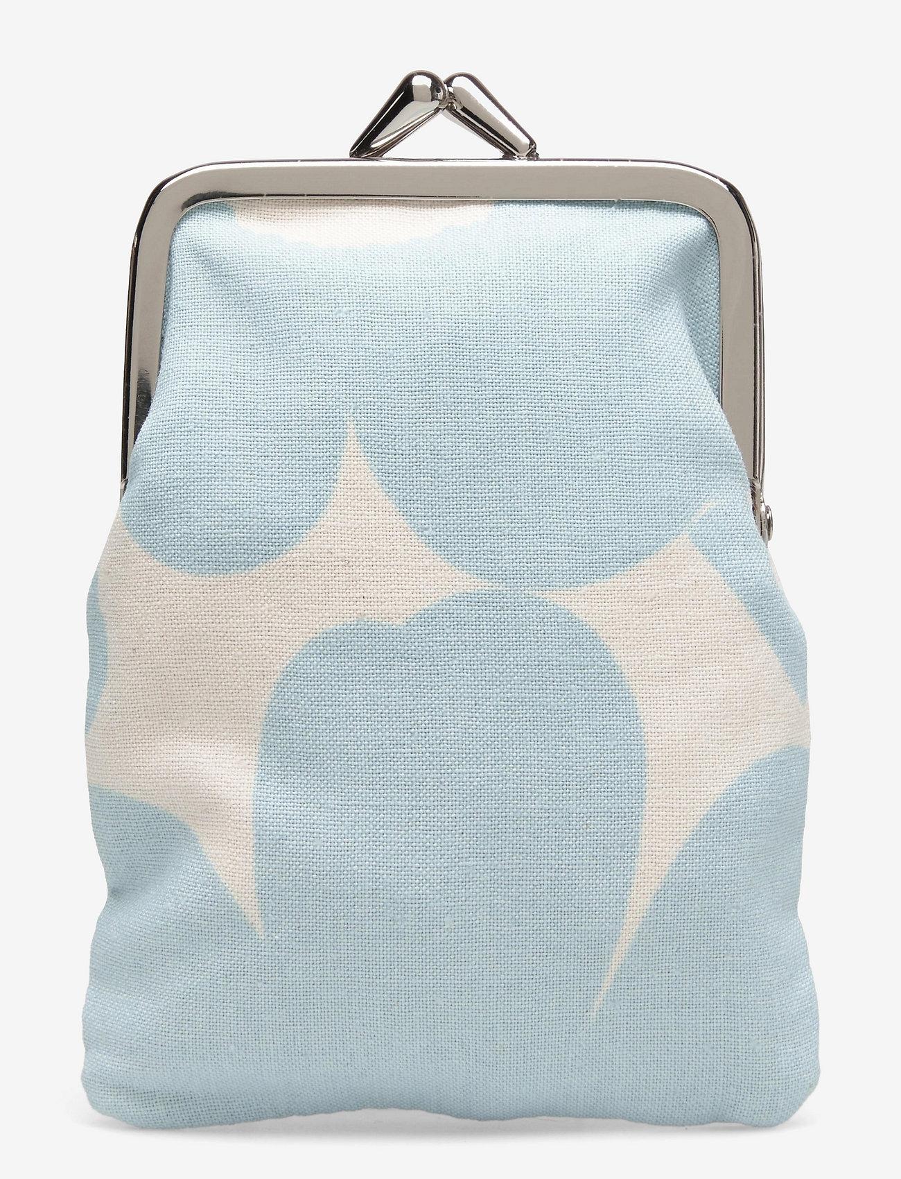 Marimekko - KORTTI KUKKARO MINI UNIKKO PURSE - punge - off white,light blue - 0