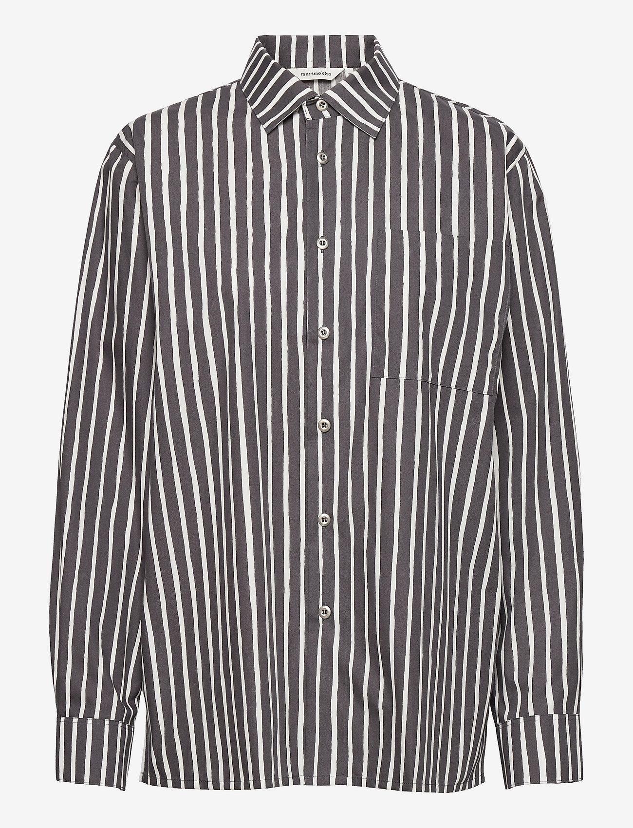 Marimekko - JOKAPOIKA 2017 SHIRT - denimskjorter - sustainable color, bown - 0