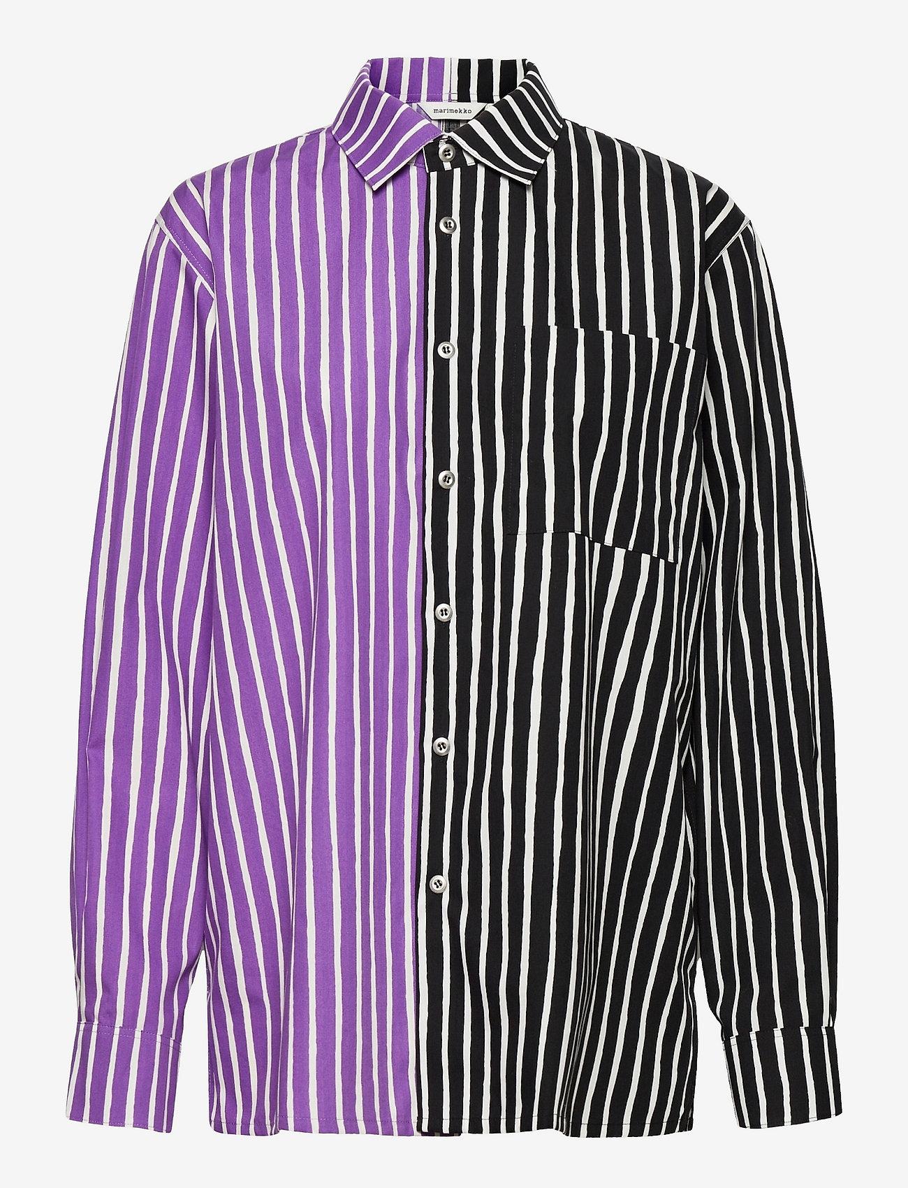 Marimekko - JOKAPOIKA 2017 MIX SHIRT - langærmede skjorter - violet, black - 0