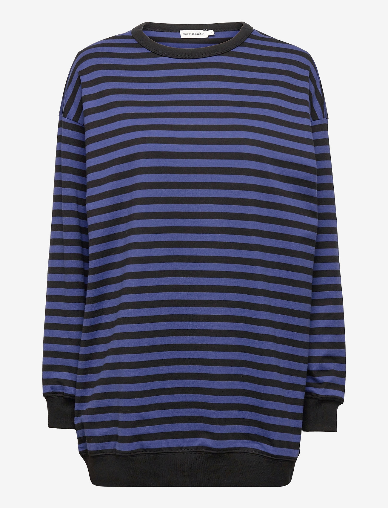 Marimekko - JUURET TASARAITA TUNIC - sweatshirts - black, blue - 0
