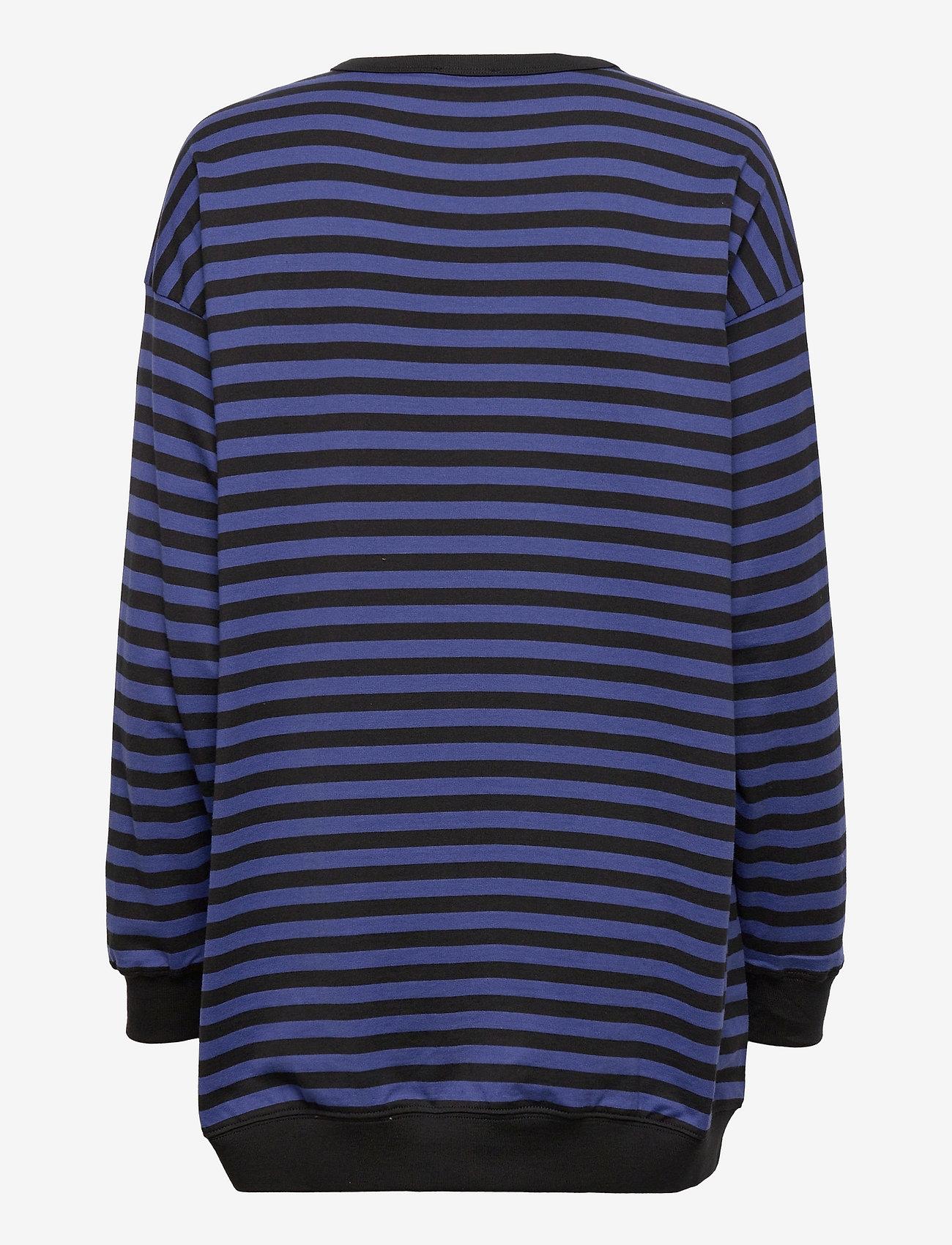 Marimekko - JUURET TASARAITA TUNIC - sweatshirts - black, blue - 1