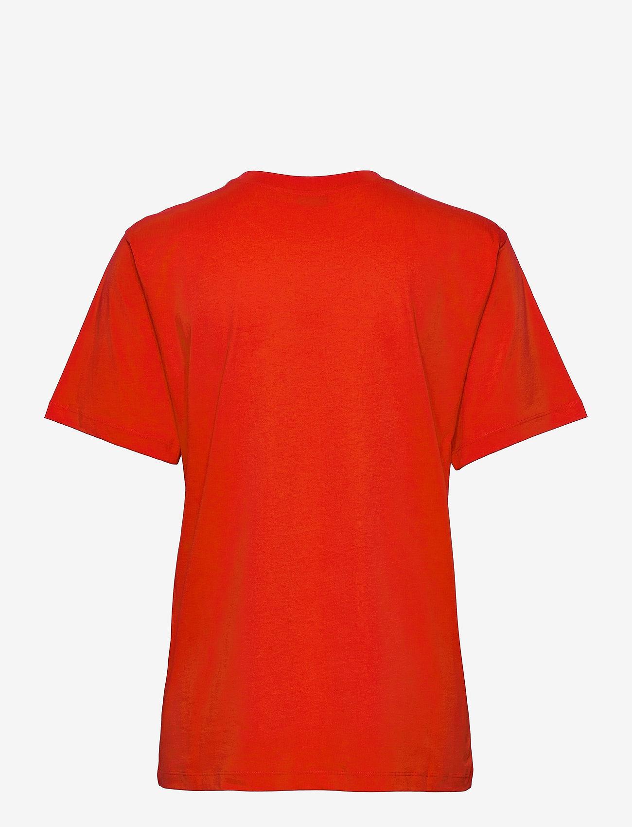 Marimekko - HIEKKA UNIKKO PLACEMENT T-SHIRT - t-shirts - red, off white - 1