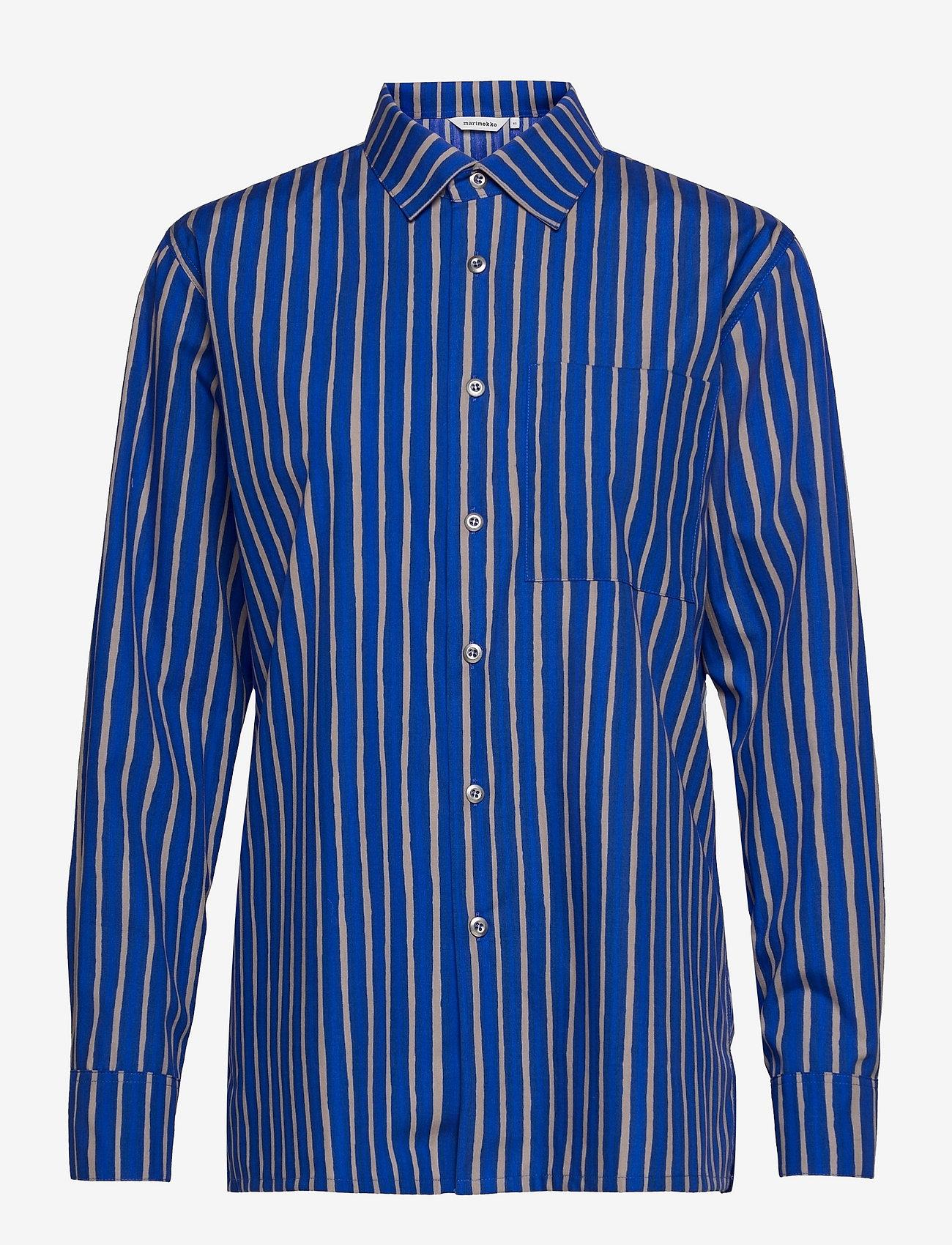 Marimekko - JOKAPOIKA 2017 SHIRT - langærmede skjorter - blue, sand - 0