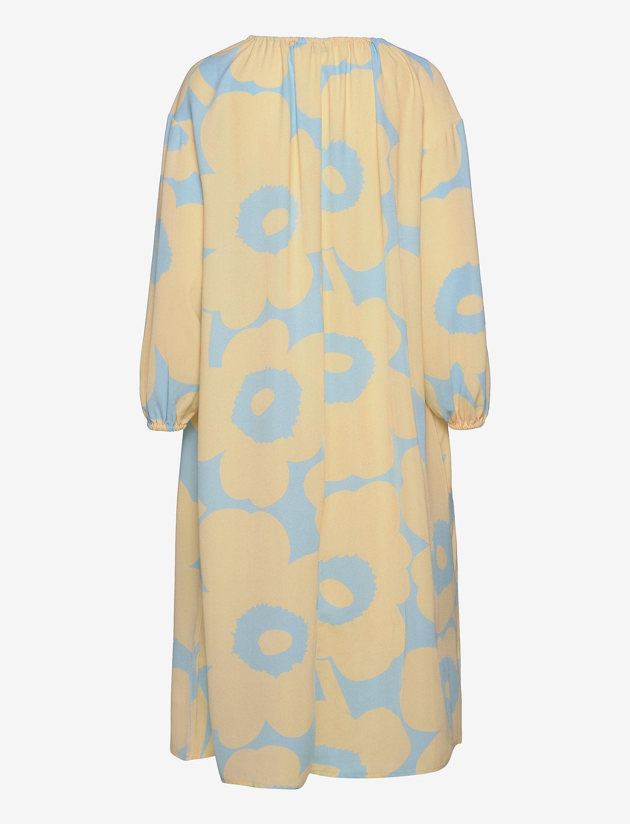 Marimekko - KORKEAAN PIENI UNIKKO 2 DRESS - hverdagskjoler - turquoise, yellow - 1
