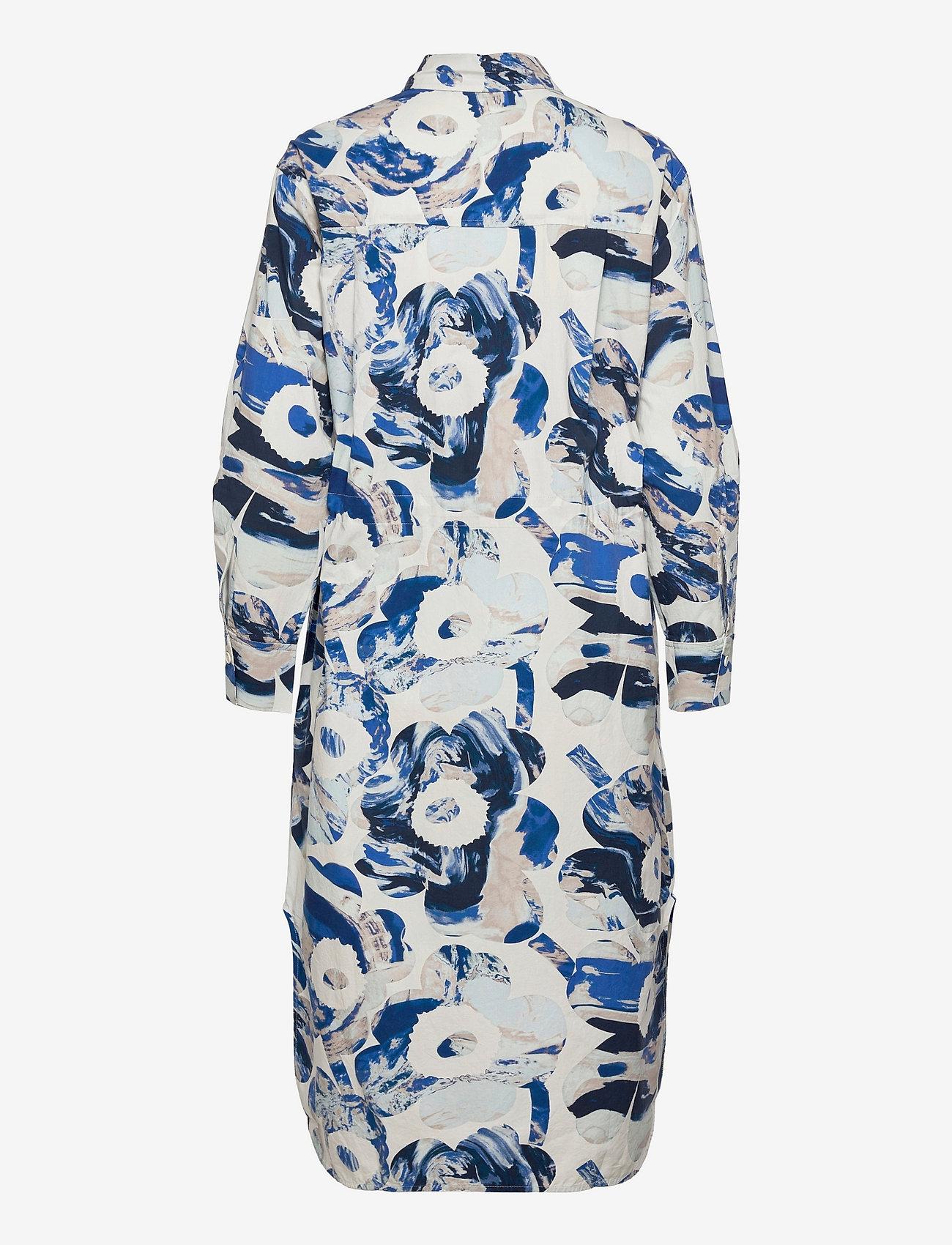 Marimekko - SINILILJA MAISEMA UNIKKO DRESS - hverdagskjoler - off-white, sand, blue - 1