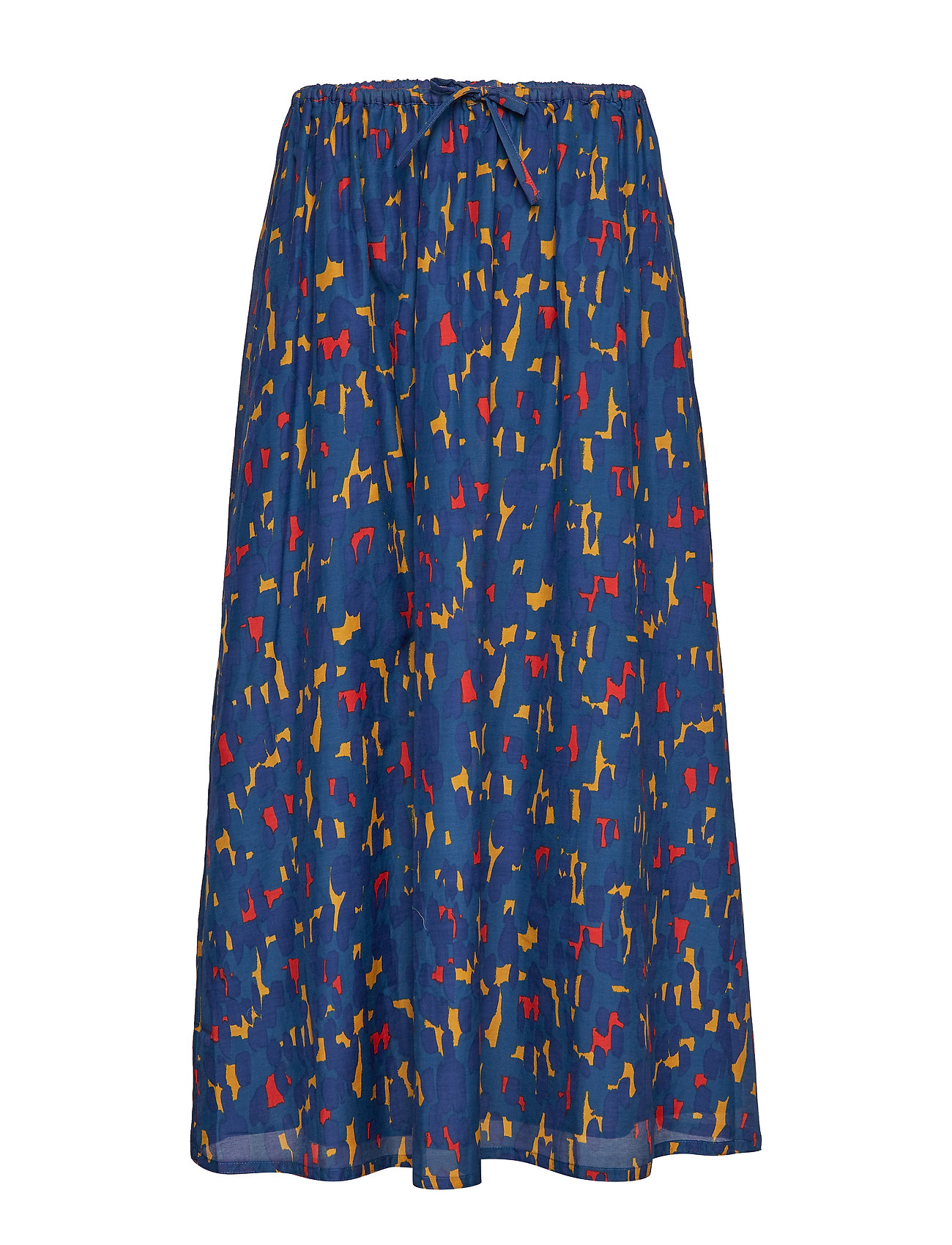Marimekko HEHKU KASKI Skirt - DARK BLUE, RED, GOLD