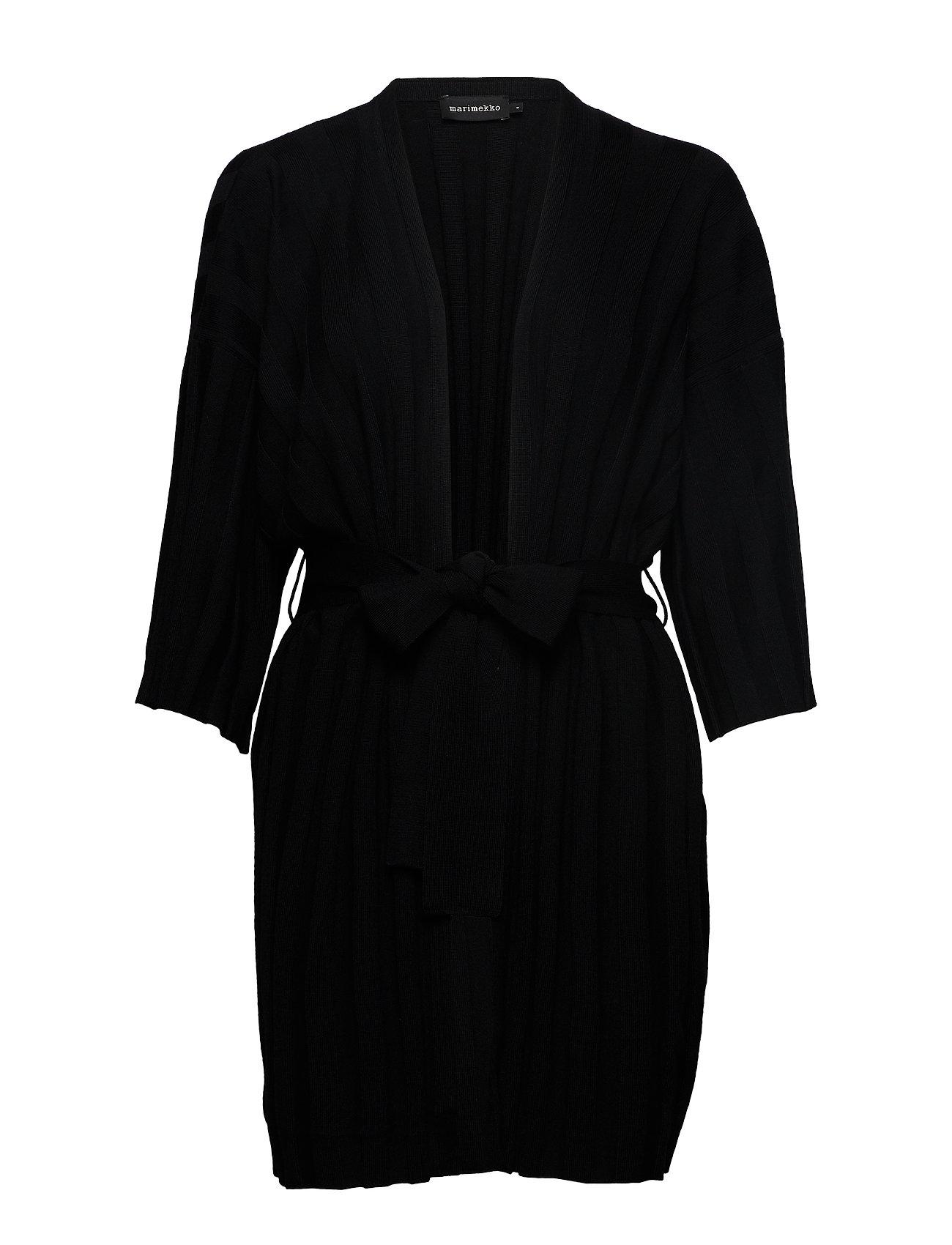 Marimekko VELLOVA SOLID Knit cardigan - BLACK